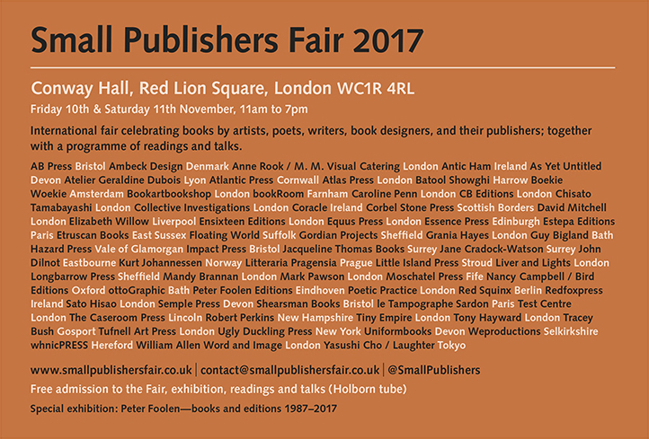 Small Publishers Fair 2017